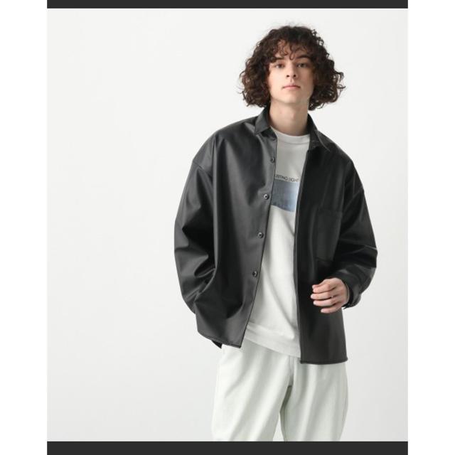 HARE(ハレ)のHARE フェイクレザーシャツ メンズのトップス(シャツ)の商品写真