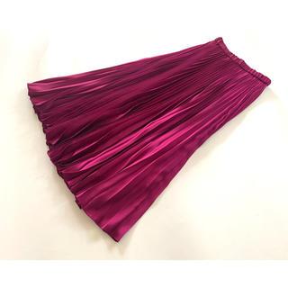 ユナイテッドアローズ(UNITED ARROWS)のUNITED ARROWS ユナイテッドアローズ♪サテンプリーツスカート (ロングスカート)