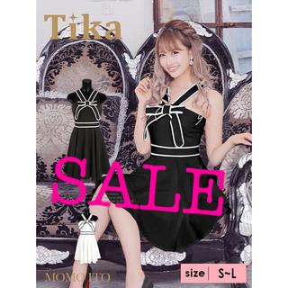 デイジーストア(dazzy store)のtika♡パイピングデザインリボンドレス(ミニドレス)