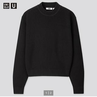UNIQLO - 新品タグ付き リブモックネックセーター黒 XL