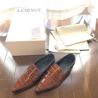 ロエベ(LOEWE)の●新品●LOEWE ポインテッドトゥローファー サイズ 35 2way(ローファー/革靴)