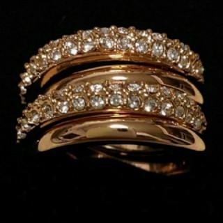 スワロフスキー(SWAROVSKI)のf53 🌸モナルダ🌸 豪華2連 ダイヤモンドキュービックジルコニア リング(リング(指輪))