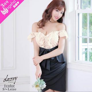 デイジーストア(dazzy store)の新品同様 明日香キララ着用 キャバドレス ミニドレス ナイトドレス サイズL(ナイトドレス)