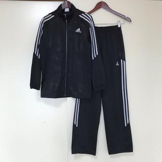 adidas - 超美品 adidas アディダス ジャージ上下 黒 男の子 女の子 160