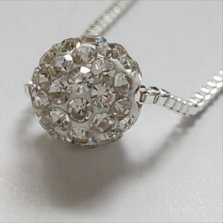 スワロフスキー(SWAROVSKI)のf23 🌸スカビオサ🌸 ダイヤモンド キュービック ジルコニア ネックレス(ネックレス)