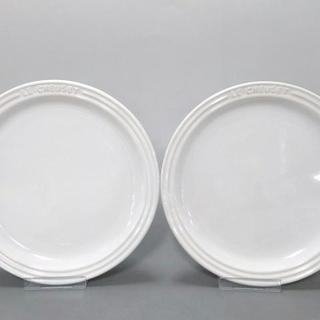 ルクルーゼ(LE CREUSET)のルクルーゼ プレート新品同様  白 陶器(食器)