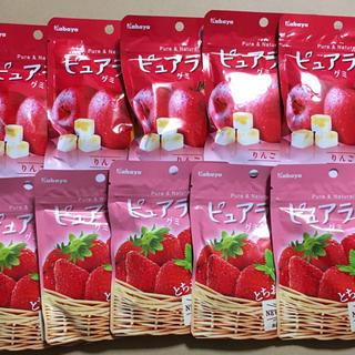 ピュアラルグミ とちおとめ苺 5袋  りんご 5袋(菓子/デザート)