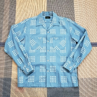STEVENSON OVERALL - sale STEVENSON OVERALL オープンカラー シャツ 長袖