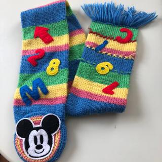 ディズニー(Disney)のミッキー マフラー 子供用(マフラー/ストール)