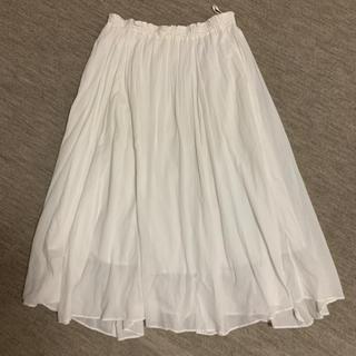 ユナイテッドアローズ(UNITED ARROWS)のユナイテッドアローズ  フレアスカート 白 ホワイト(ロングスカート)