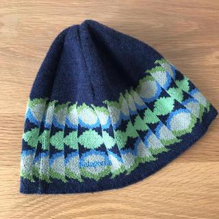 パタゴニア(patagonia)のパタゴニア Patagonia 幾何学柄 ニット帽 USED(ニット帽/ビーニー)