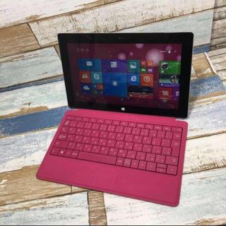 マイクロソフト(Microsoft)のオフィス付き サーフェス&タイプキーボード マゼンダ(ノートPC)