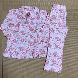 サンリオ(サンリオ)のマイメロディ 長袖 パジャマ 120 肌に優しい天然素材肌側綿100%(パジャマ)