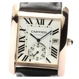 カルティエ(Cartier)の☆美品 カルティエ タンクMC K18PG W5330001 メンズ 【中古】(腕時計(アナログ))