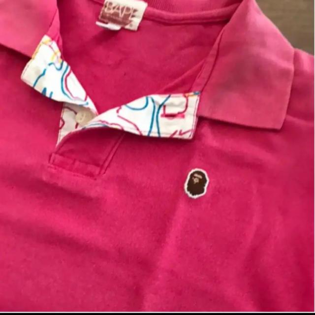 A BATHING APE(アベイシングエイプ)のABATHINGAPEポロシャツです。 キッズ/ベビー/マタニティのキッズ服男の子用(90cm~)(Tシャツ/カットソー)の商品写真