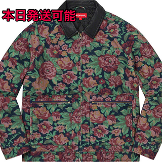 Supreme - Supreme Leather Collar Work Jacket 花柄