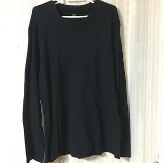 ユニクロ(UNIQLO)のロングTシャツ 黒(Tシャツ/カットソー(七分/長袖))