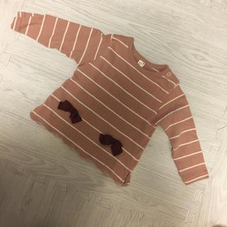 petit main - アプレレクール 長袖カットソー  くすみカラー 90