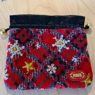 フェイラー(FEILER)のフェイラー 巾着 クリスマス 未使用(ポーチ)