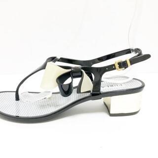 フルラ(Furla)のフルラ サンダル 37 レディース - 黒×白(サンダル)