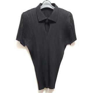 PLEATS PLEASE ISSEY MIYAKE - プリーツプリーズ 半袖ポロシャツ 4 XL -