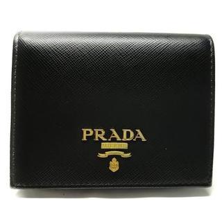 PRADA - プラダ 2つ折り財布美品  - 1MV204 黒