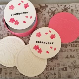 スターバックスコーヒー(Starbucks Coffee)のスタバ サクラコースター 4枚セット(テーブル用品)