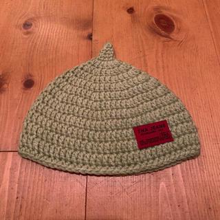 Baby手編み帽子  グリーン