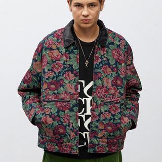 Supreme - XL Supreme Leather Collar Work Jacket 花柄