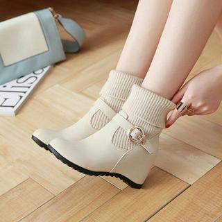 良い品1ノンスリップハイヒールブーツしいシングル女性の靴下ブーツ+