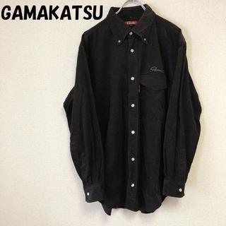 ガマカツ(がまかつ)の購入者ありがまかつ コーデュロイシャツ ブラック サイズLL(シャツ)