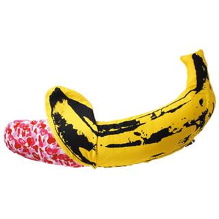 アベイシングエイプ(A BATHING APE)のBAPE Andy Warhol ABC BANANA クッション エイプ L(クッション)