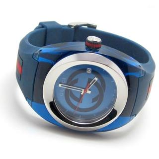 Gucci - グッチ/シンク/シェリー★ブルー/青/YA137104/メンズ 腕時計★新品