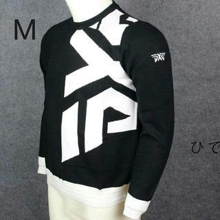 新作 L ブラック PXGゴルフウエア厚手セーター