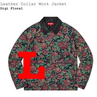 Supreme - supreme leather collar work jacket L
