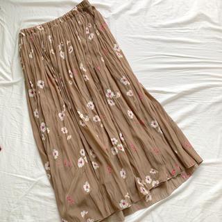 ROUge Vif  ミディアム 花柄スカート プリーツスカート(ロングスカート)