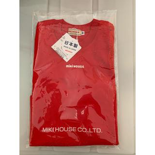 mikihouse - 【新品】ミキハウス ロゴ 半袖 赤90サイズ