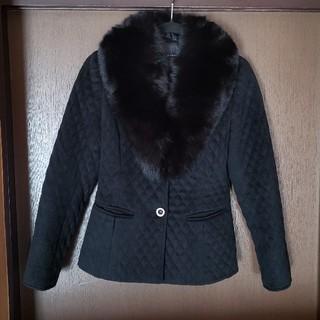 grande soeur ファー付きジャケット黒(テーラードジャケット)