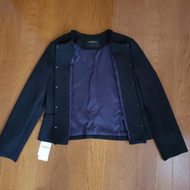 green label relaxing(グリーンレーベルリラクシング)の【新品】グリーンレーベルリラクシングのジャケットとスカート 紺色 レディースのフォーマル/ドレス(スーツ)の商品写真