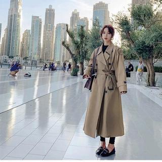 ディーホリック(dholic)の韓国 ファッション ロングトレンチコート アウター トレンチ ロングコート(トレンチコート)