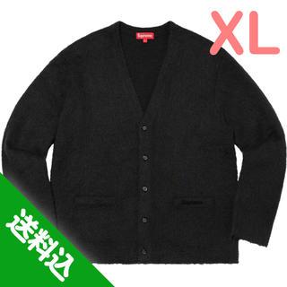 Supreme - 【XL】SUPREME Brushed Mohair Cardigan 黒