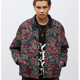 シュプリーム(Supreme)のxl 花柄 supreme leather collar work jacket(ブルゾン)