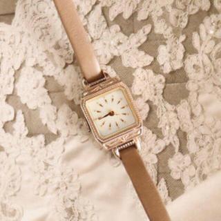 アガット(agete)のアガット 腕時計 k10 レザー ベージュ(腕時計)