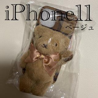 メゾンドフルール(Maison de FLEUR)のメゾンドフルール ささえてくまさん アイフォンケース iPhone11(iPhoneケース)
