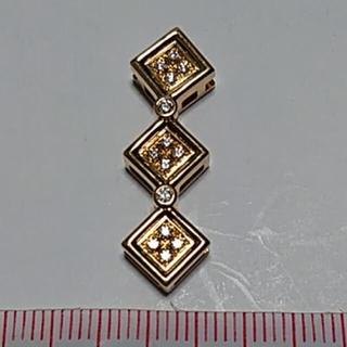 タサキ(TASAKI)の田崎真珠 タサキ  TASAKI K18YG ダイヤモンド ペンダントトップ(ネックレス)