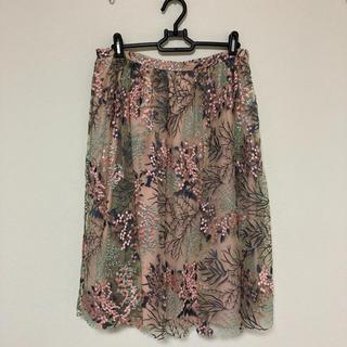 ZARA - ZARA 花柄レース刺繍スカート