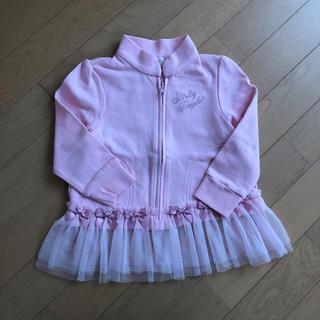 Shirley Temple - シャーリーテンプル裾リボンフリル羽織り 100cm