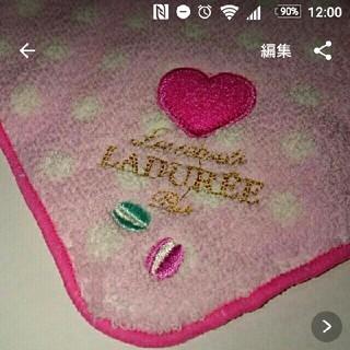 ラデュレ(LADUREE)の新品 LADUREE タオル ハンカチ ラデュレ ピンク 水玉 ドット マカロン(ハンカチ)