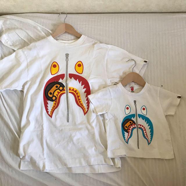 A BATHING APE(アベイシングエイプ)のAPE Tシャツ 親子コーデセット キッズ/ベビー/マタニティのキッズ服男の子用(90cm~)(Tシャツ/カットソー)の商品写真