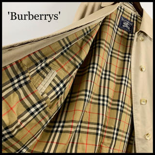 バーバリー(BURBERRY)のBURBERRY バーバリー ステンカラーコート ベージュ 裏地総柄 古着(ロングコート)